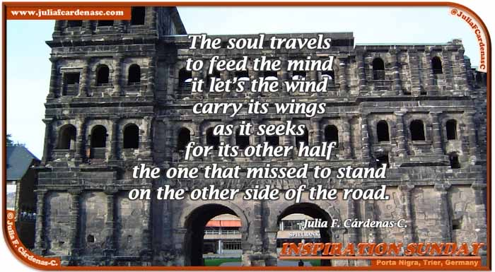 Poem-In-A-Photo. Poem about life and lost Love. Photo of Porta Nigra in Trier, Germany. @JuliaFCardenasC