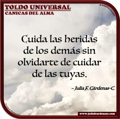 Toldo Universal: Canicas del Alma. Frase y pensamiento en Español espíritu humano. @JuliaFCardenasC