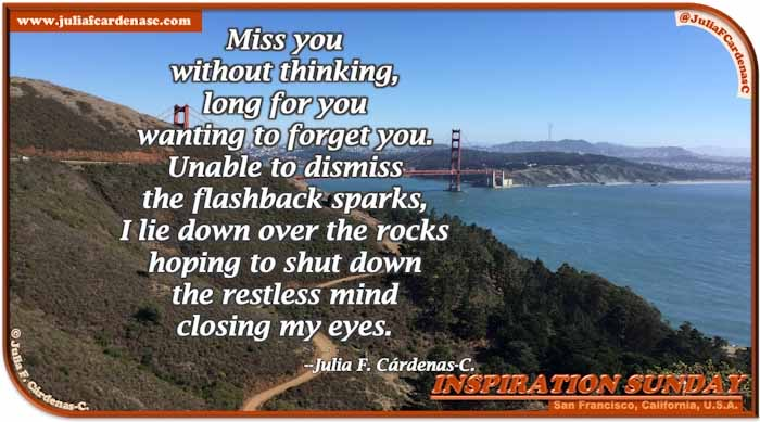 Poem-In-A-Photo. Poem about love and lost love. Photo showcases a panoramic view of the San Francisco Bay in San Francisco, California, USA. @JuliaFCardenasC