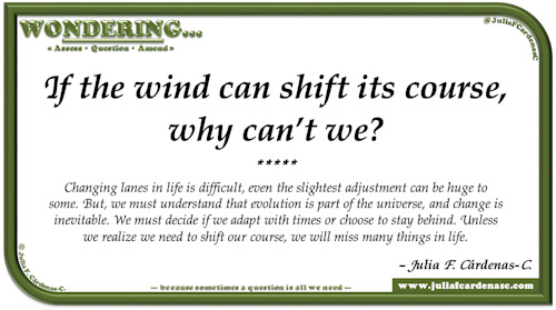 Wondering… Question and answer card pondering and reflecting about decisions and various life's paths. @JuliaFCardenasC