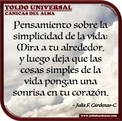 Toldo Universal: Canicas del Alma. Frase y pensamiento en Español sobre las cosas simples de la vida. @JuliaFCardenasC