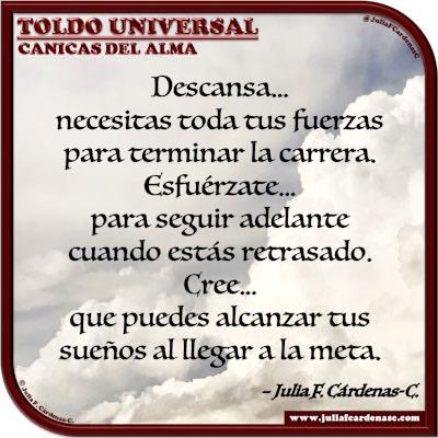 Toldo Universal: Canicas del Alma. Frase y pensamiento en Español acerca del espíritu humano. @JuliaFCardenasC
