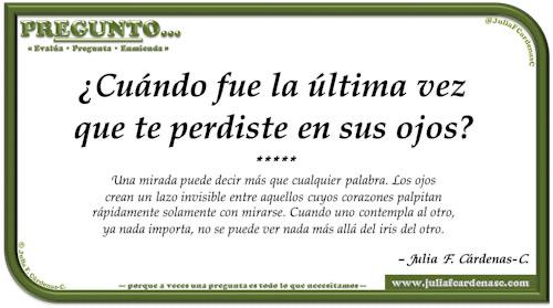 Pregunto… Tarjeta de pregunta y respuesta en Español como reflexiones sobre el amor. @JuliaFCardenasC