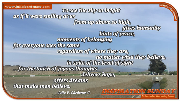 Poem-In-A-Photo. Poem about togetherness and happiness. Inspirational landscape photo. The yellow, arid land contrasts with the blue sky and the mountains in the very far. There are little hints of green, but hit is almost unnoticeable. @JuliaFCardenasC
